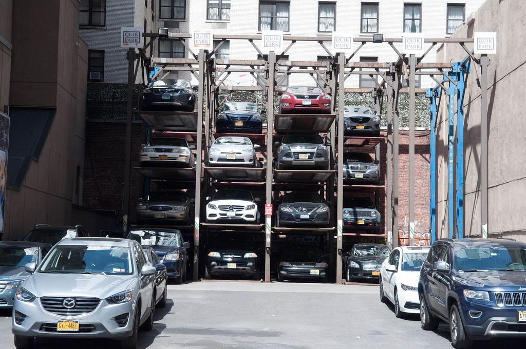 Quik Park Parkplatz in New York City, USA