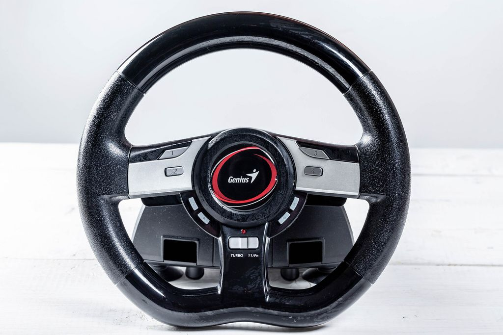racing wheel for computer driving simulator