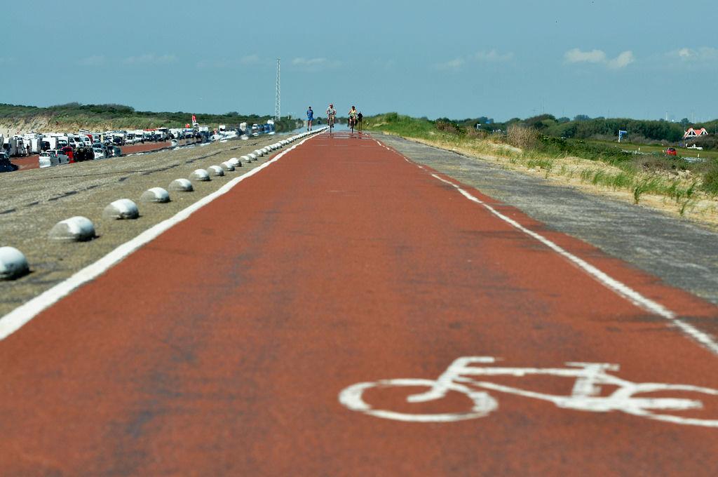 Radweg in Renesse, Niederlande