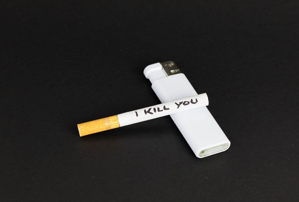 Rauchen ist eine schlechte Angewohnheit