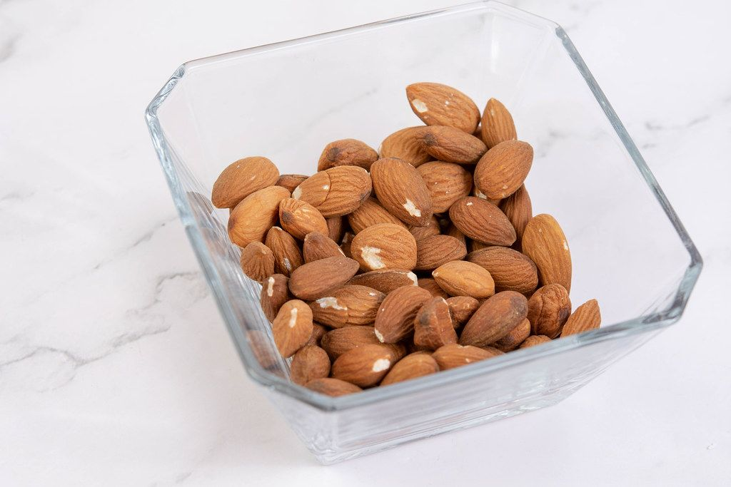 Raw Almonds in the bowl