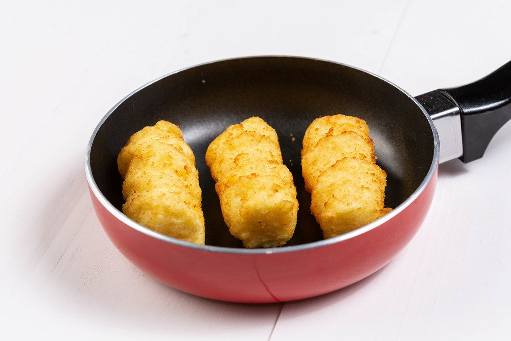Raw Potato Croquettes in the Frying Pan (Flip 2019)