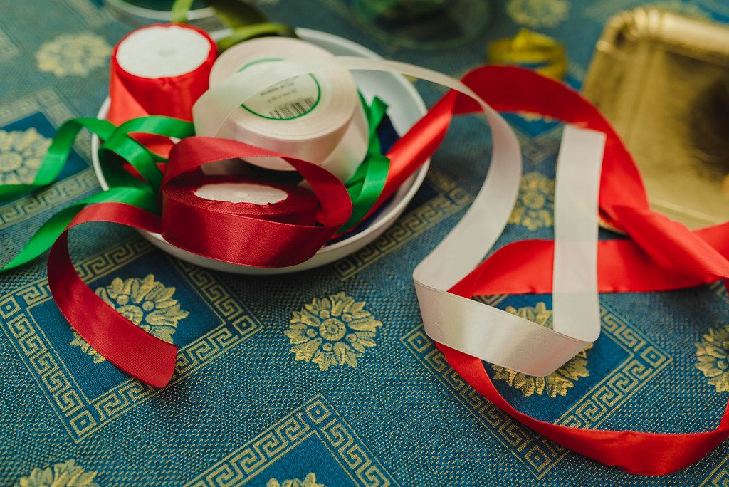 Red And Green Ribbon For Handmade Decors (Flip 2019)