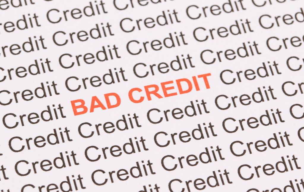 Red Bad Credit text