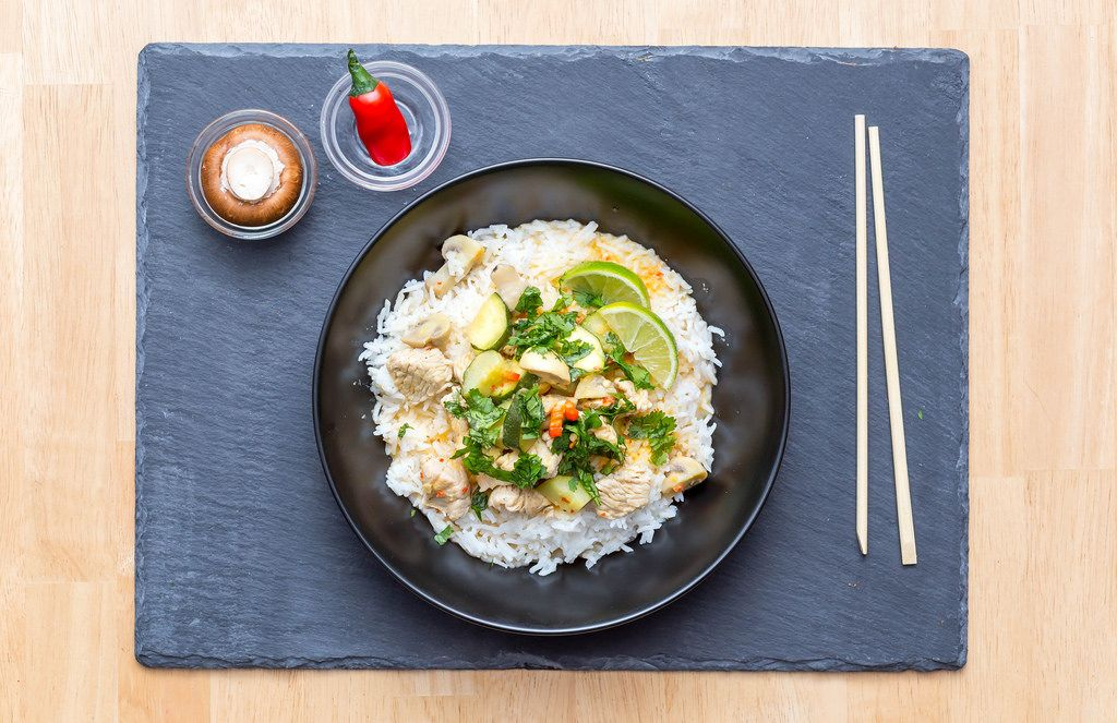 Red Curry with Rice and Veggies
