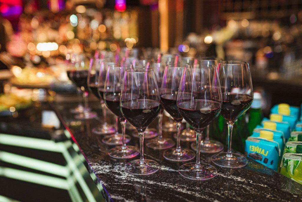 Red Wine Served In Restaurant (Flip 2019)