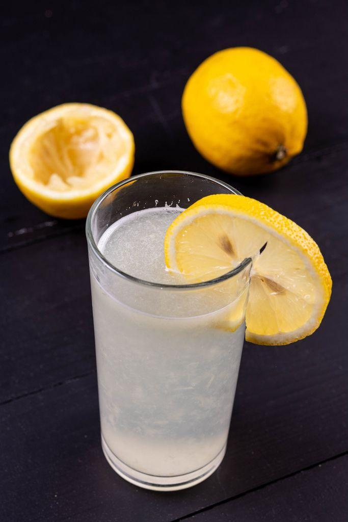 Refreshing Lemonade in the glass