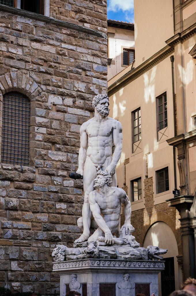 Renascence statue on Piazza della Signoria