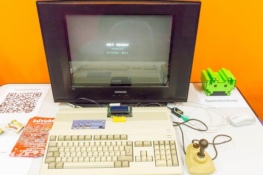 Retro-Gaming auf einer Amiga - Gamescom 2017, Köln