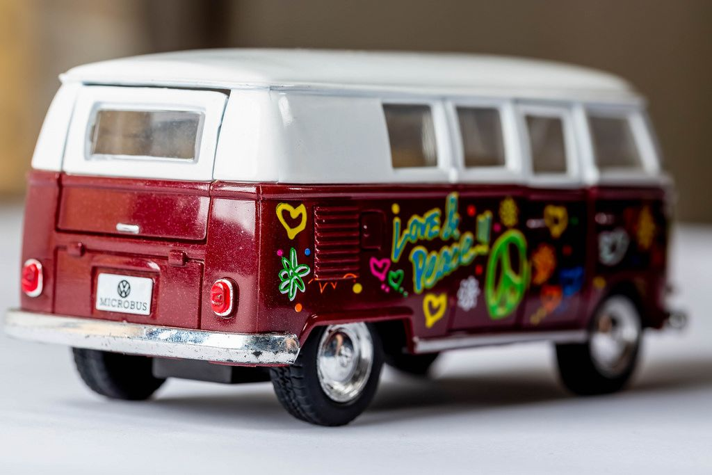 Retro Volkswagen Classical Bus 1962