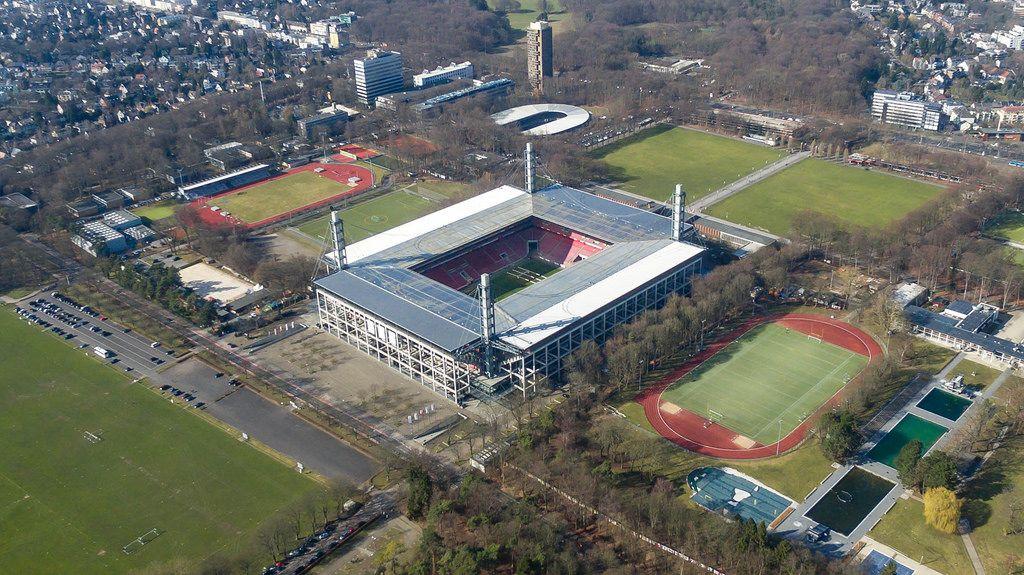 Rheinenergiestadion: Die Heimat des 1. FC Köln (Luftbild)