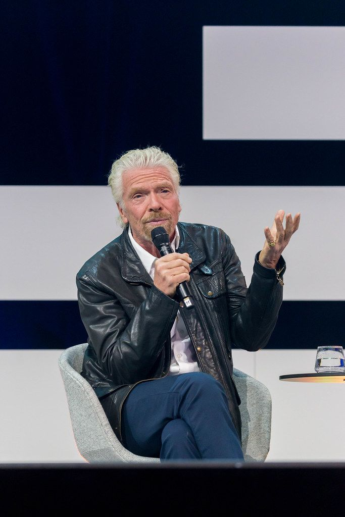 Richard Branson, founder of Virgin group visits Germany to attend Digital X in Cologne