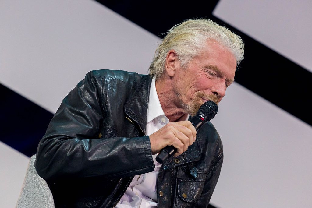 Richard Branson, Investor and founder at the Digital X Convention in Cologne on stage