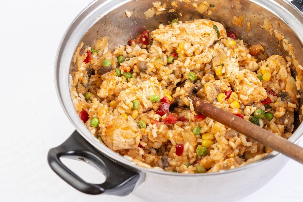 Risotto with Chicken Meat