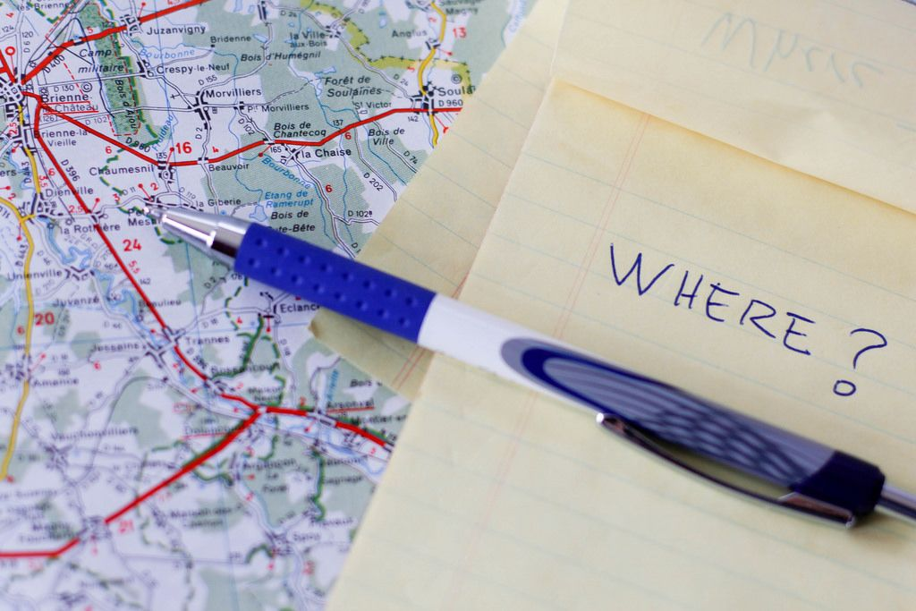 Road Map With Notebook And a Pen .