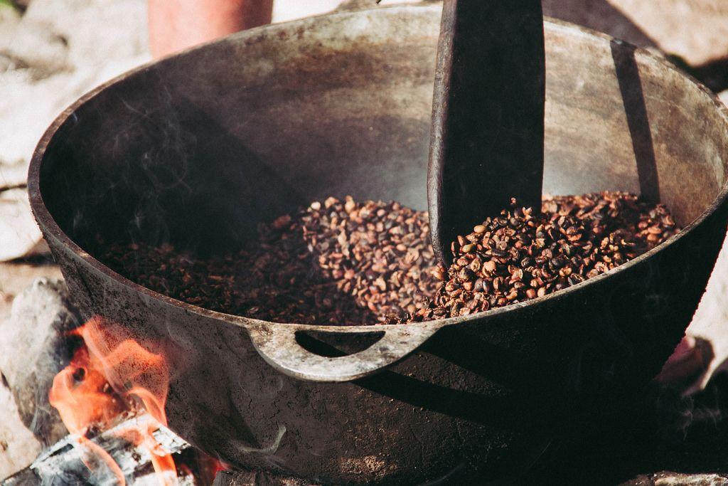 Roasting Coffee Grains