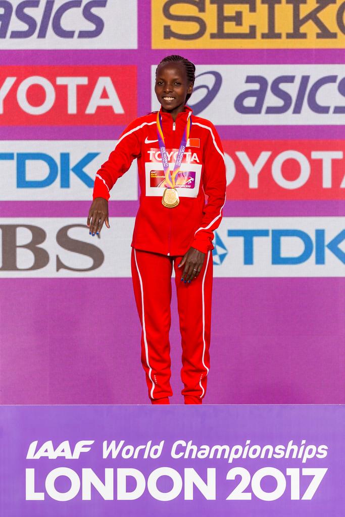 Rose CHELIMO (Bahrain), Winner of the Marathon World Championships