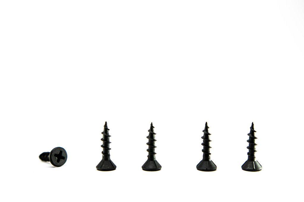 Row of small black screws (Flip 2019) (Flip 2019) Flip 2019