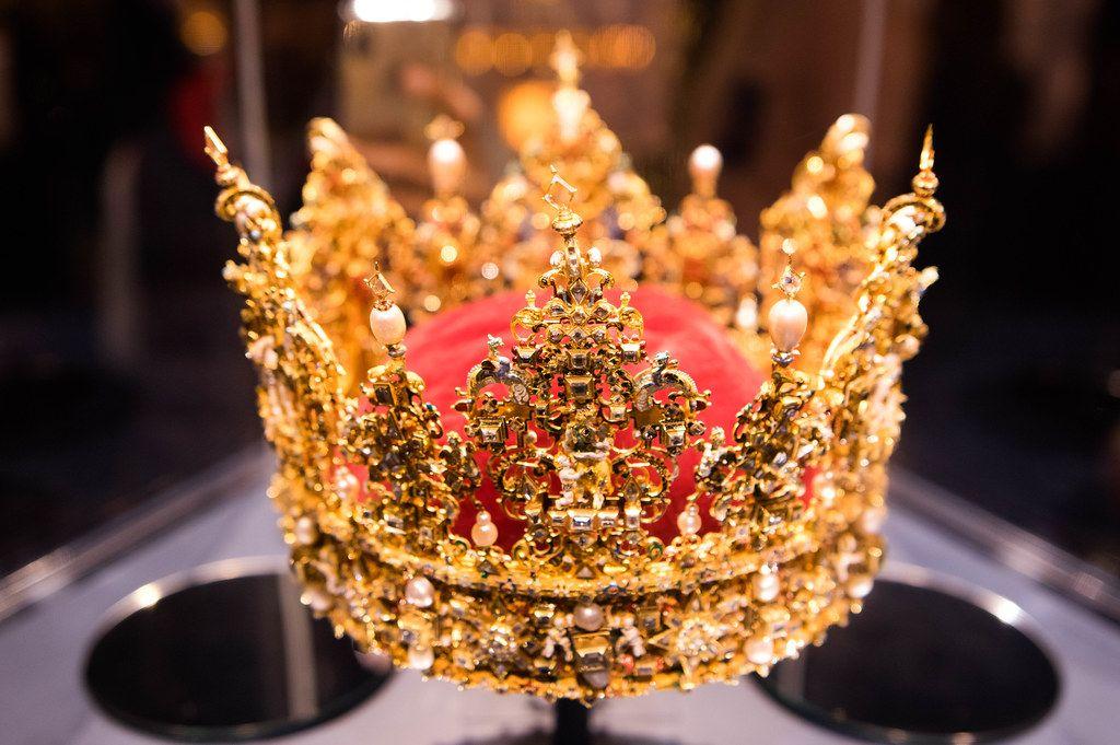 Royal Danish crown in a museum
