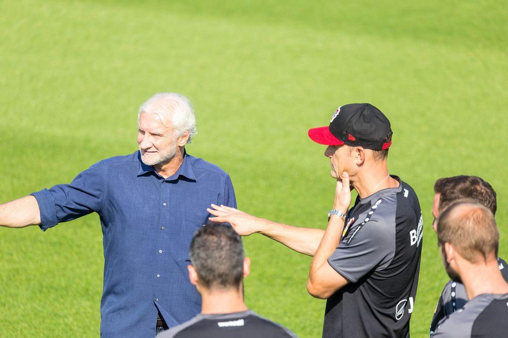 Rudi Völler during Bayer 04 Leverkusen training