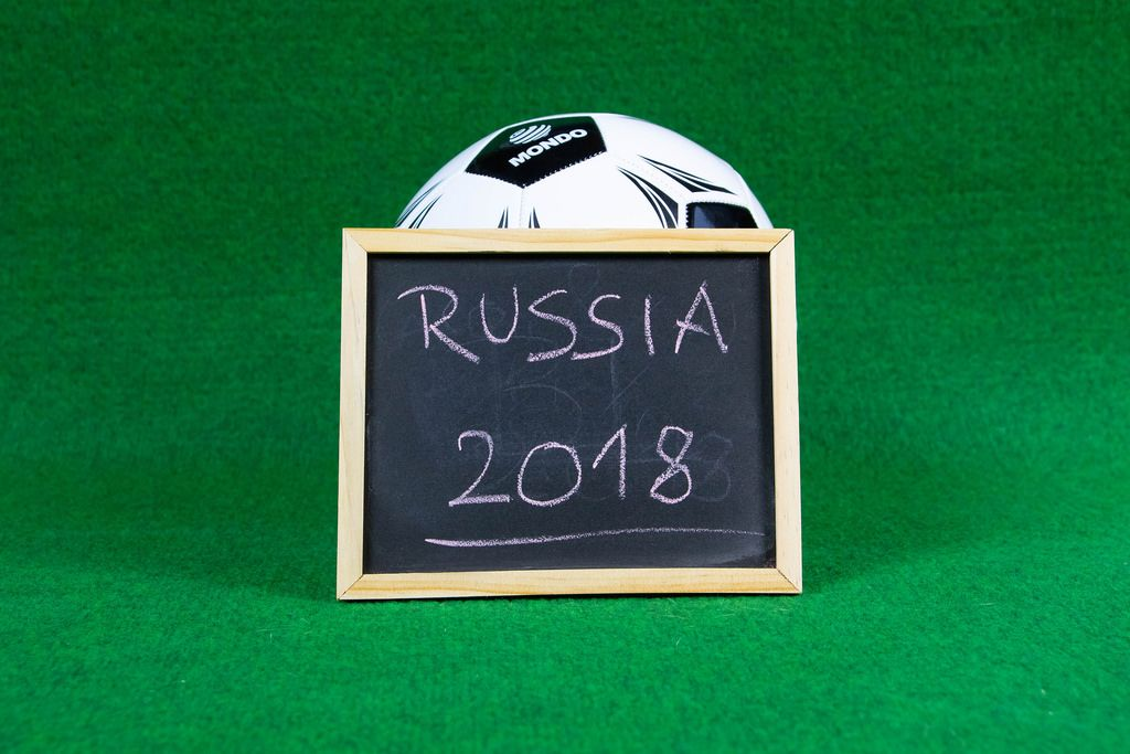 Russia 2018 sign