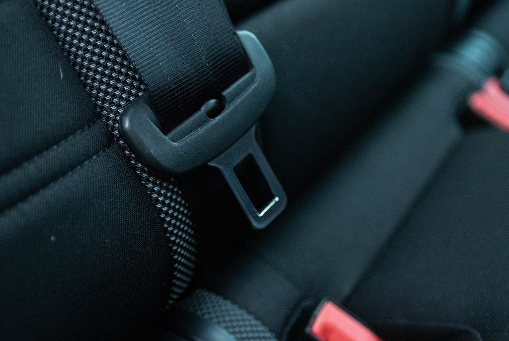 Safety belt in a car
