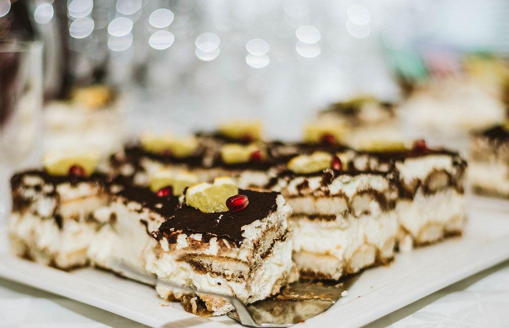Sahnekuchen und Schokolade
