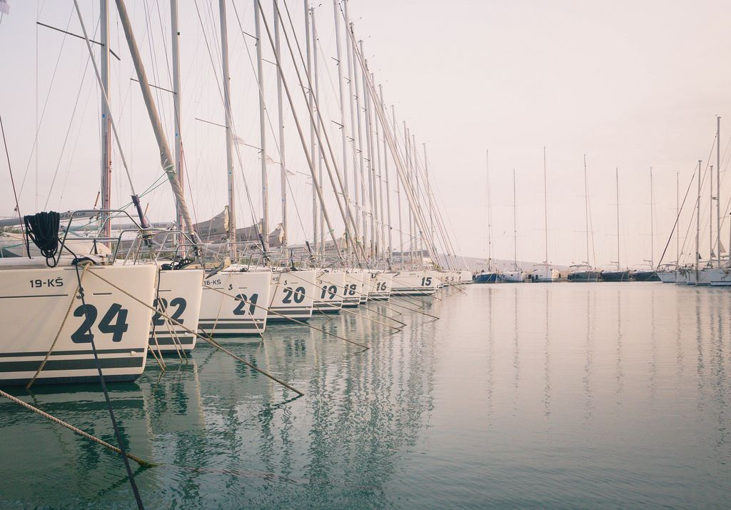Sailboats waiting for season