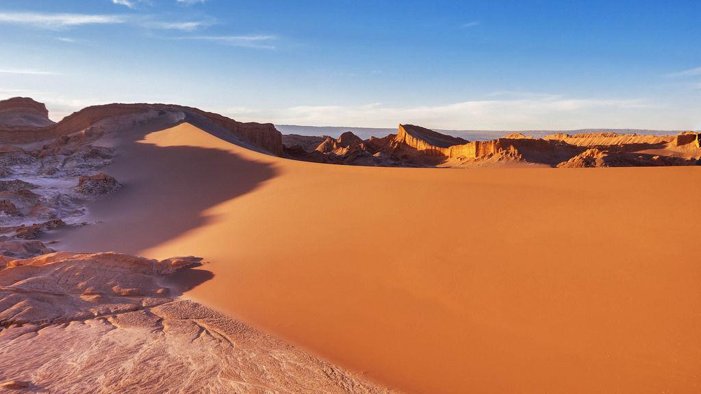 Sand dunes in Valley De La Luna / Sanddünen im Tal De La Luna