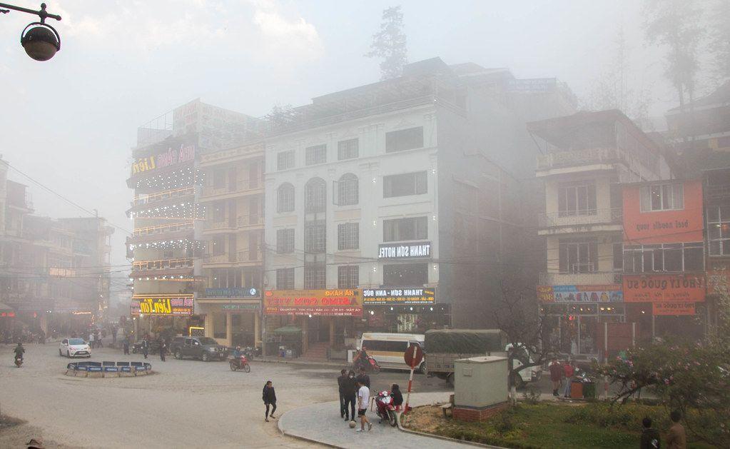Sapa city on a foggy day  (Flip 2019)