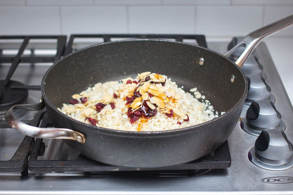Saucepan with Rice and Almond