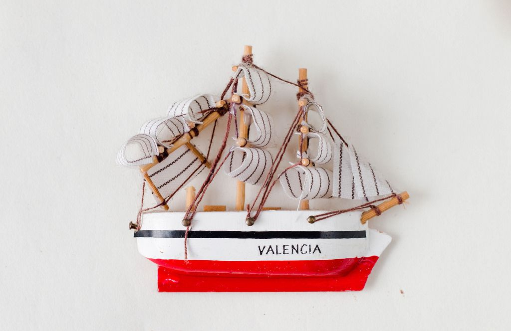 Schiff als Souvenier aus Valencia, Spanien