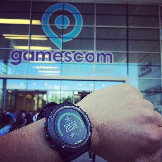 Schon 20.000 Schritte, bevor die #Gamescom gestartet ist. #fenix3