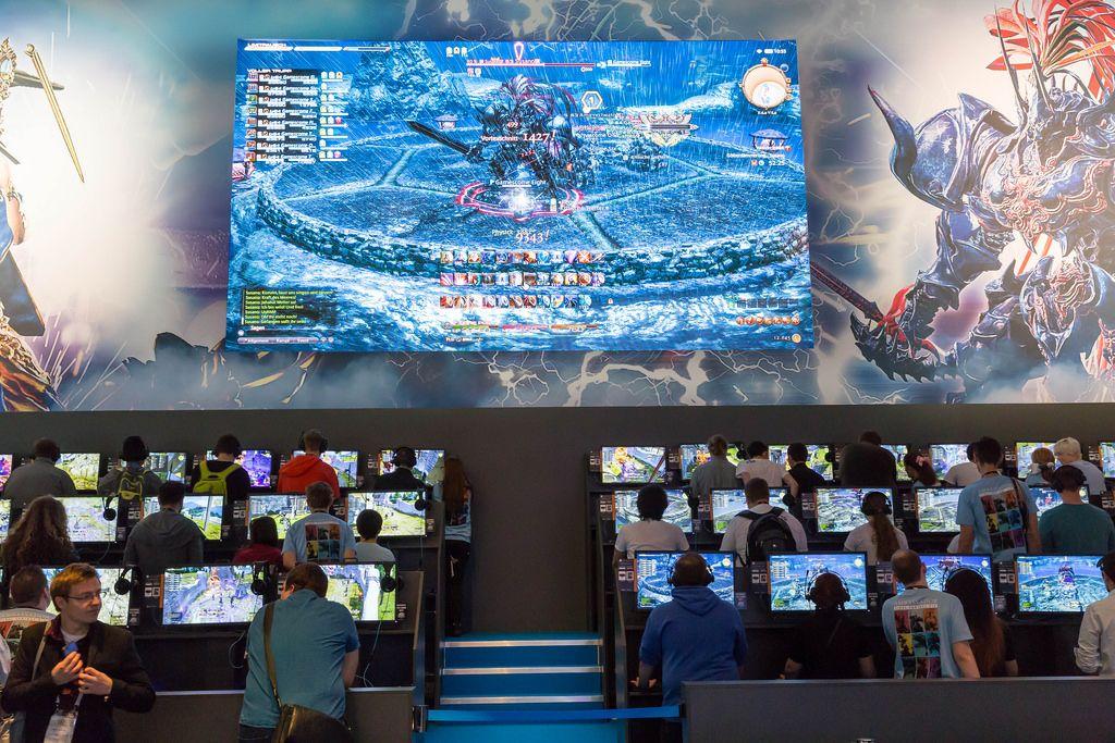 Schwieriger Gegner in Final Fantasy XIV Online - Gamescom 2017, Köln
