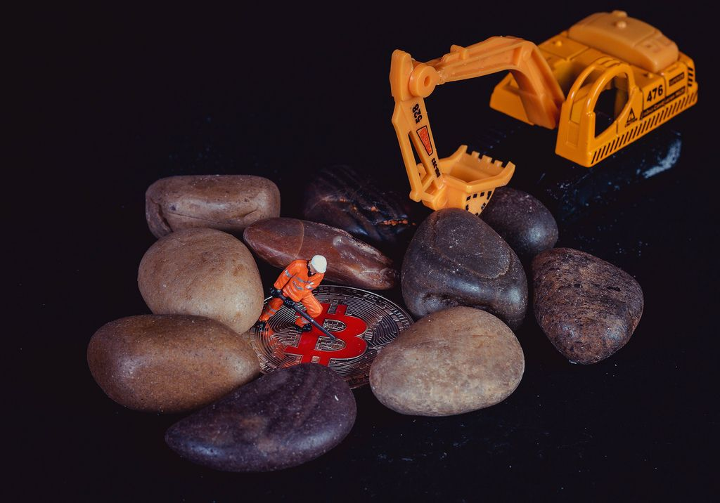 Searching for Bitcoins between rocks