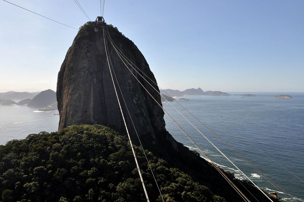 Seilbahn zum Zuckerhut in Rio de Janeiro, Brasilien