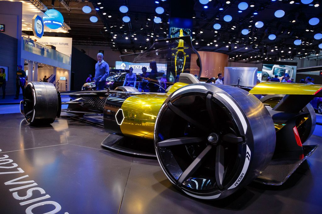 Seitenansicht des Konzeptes R.S. 2027 Vision von Renault