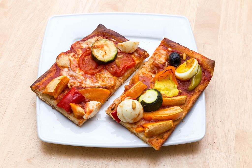 Selbstgemachte Gemüsepizza