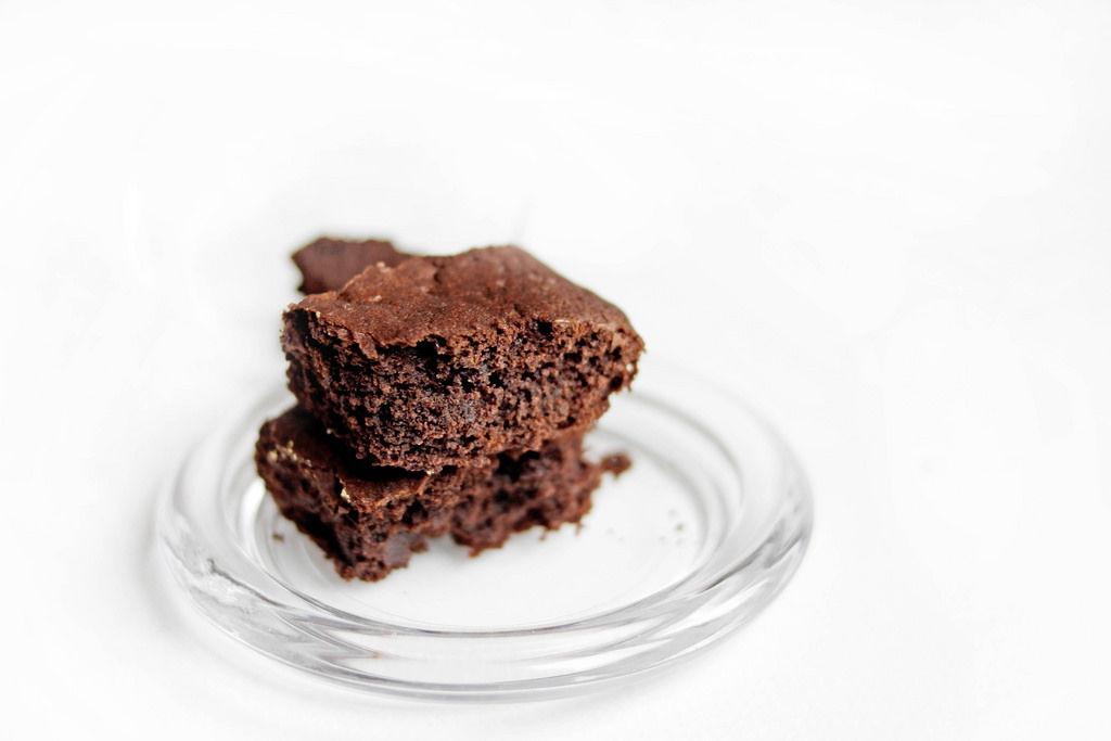 Selbstgemachter Schokoladen Brownie
