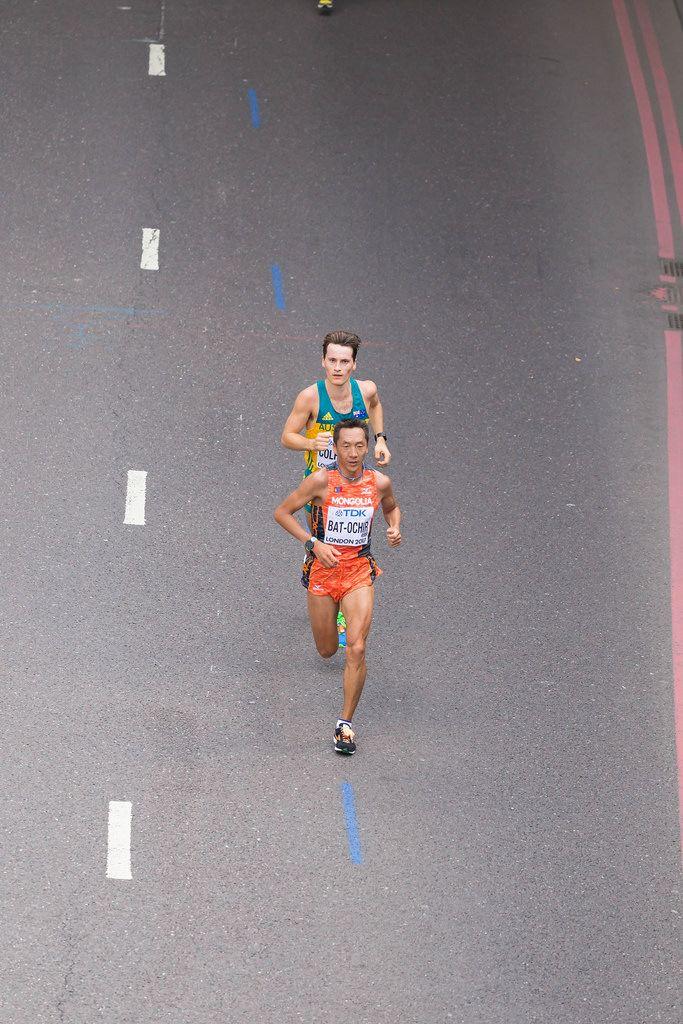 Ser-Od Bat-Ochir und Jack Colreavy (Marathon Finale) bei den IAAF Leichtathletik-Weltmeisterschaften 2017 in London