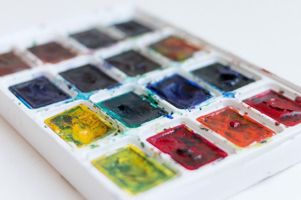 Set of watercolor paints  / Wassermalfarbe