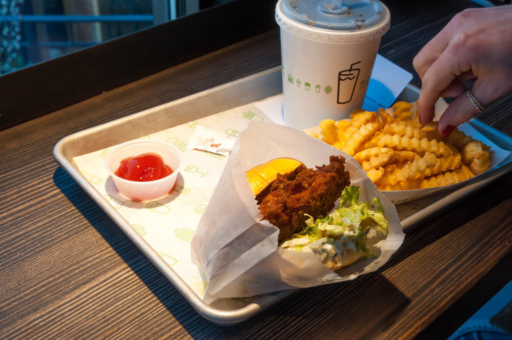 Shake Shack: Chicken Burger with Fries
