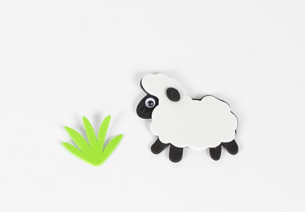 Sheep with grass