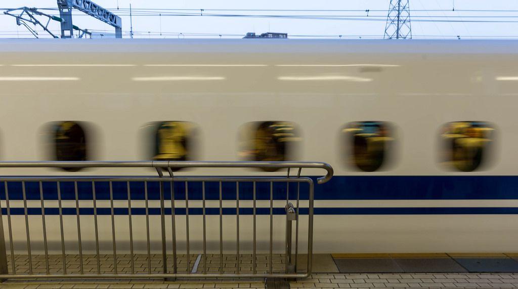 Shinkansen-Schnellzug in Tokio