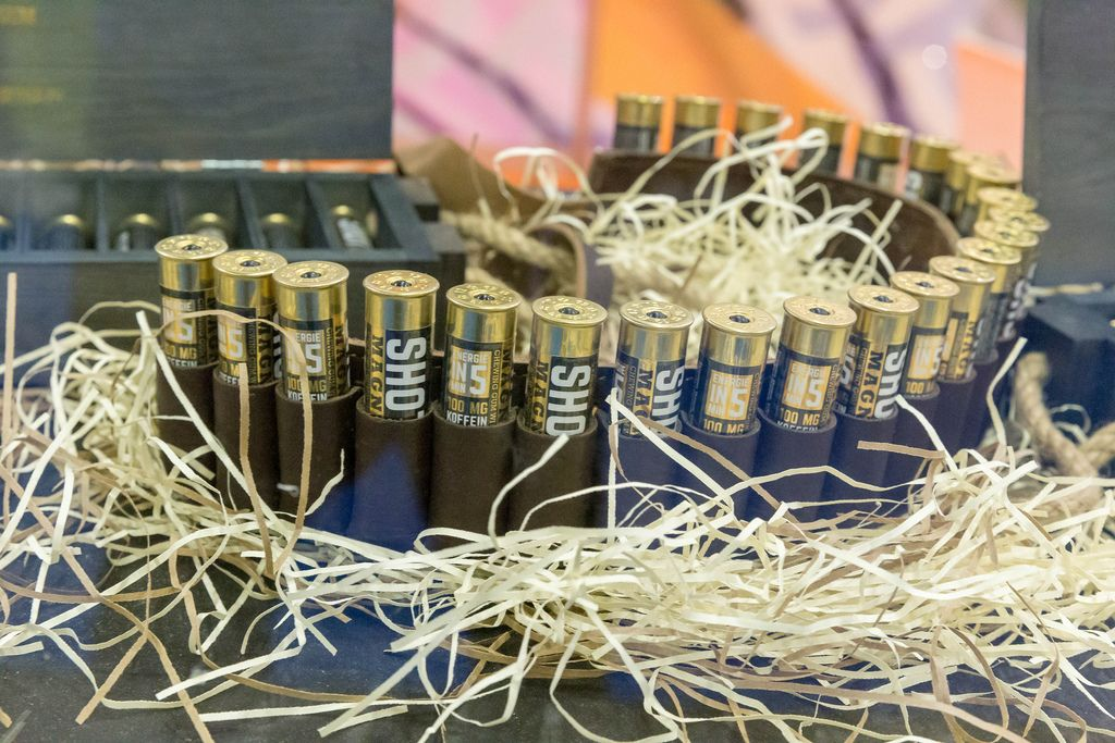 Shot Gum - the world's strongest chewing gum with caffeine and vitamin B presented at Fibo fitness trade show