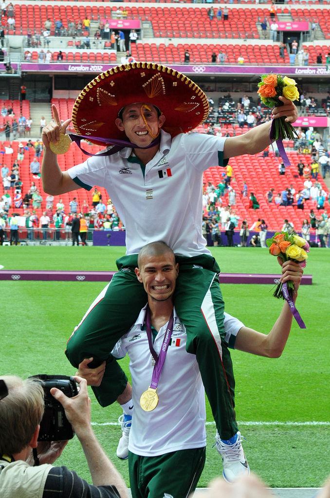 Sieger des Olympiafinales in Wembley: Mexiko