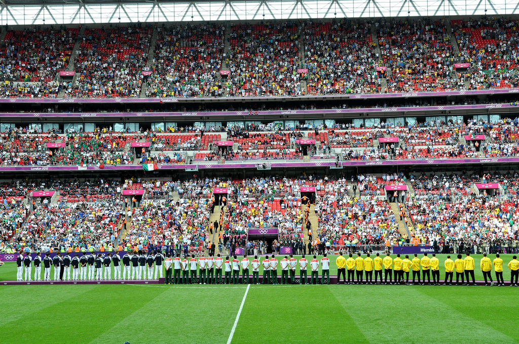 Siegerehrung Fußbal London 2012