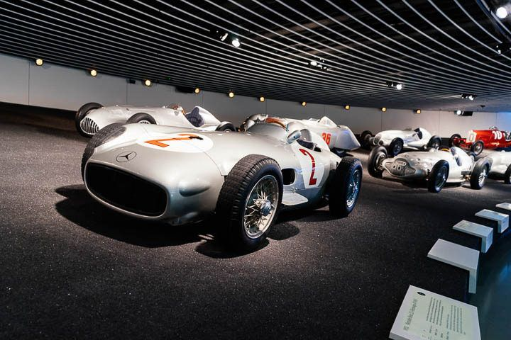 Silver arrows racing cars