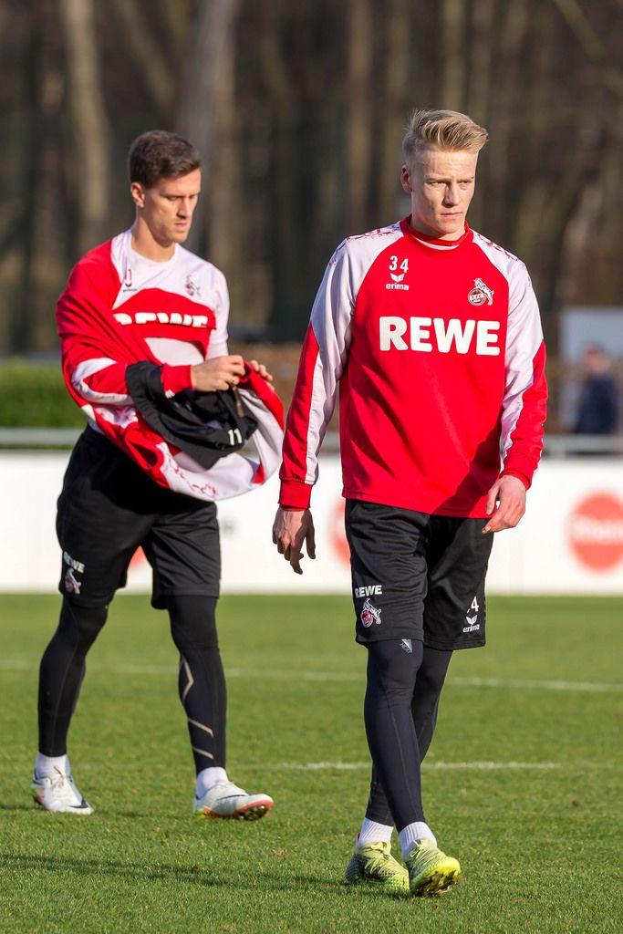 Simon Zoller und Lukas Klünter beim Training am 30.01.2018