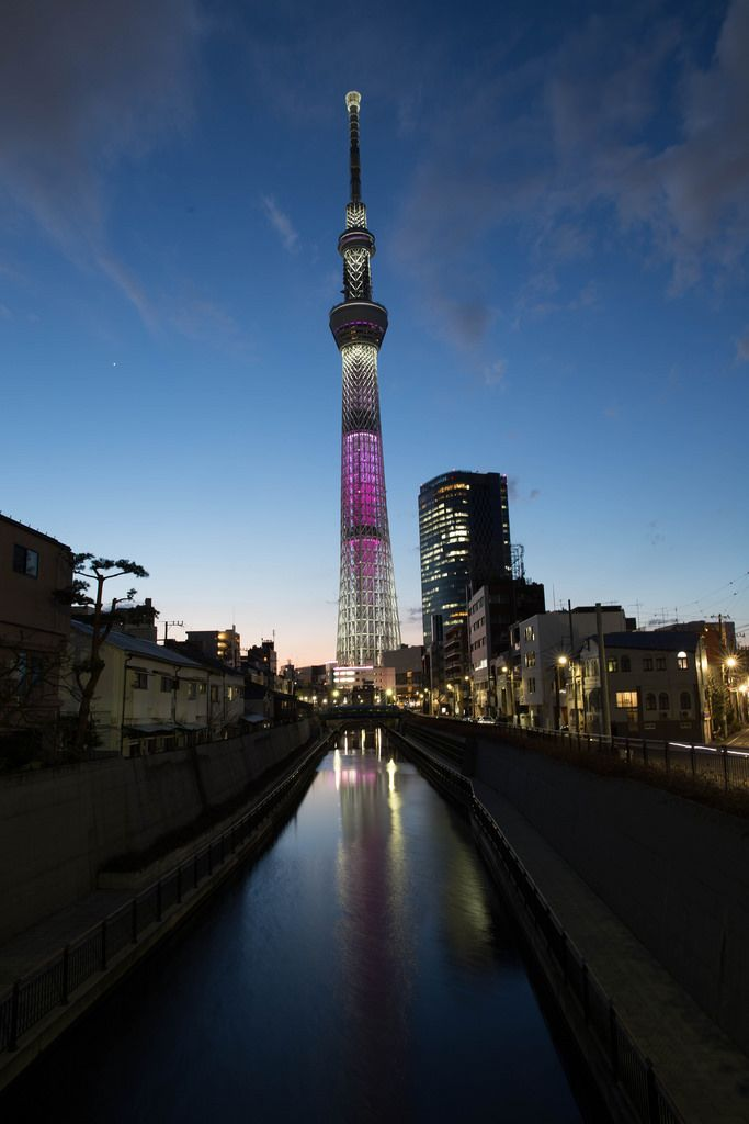 Skytree bei Sonnenuntergang, Tokyo